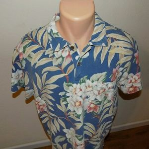 PRL | Vintage Hawaiian Floral Polo Button Down XL